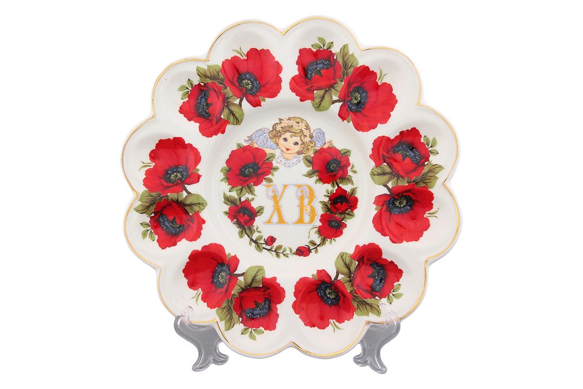 Тарелка для фаршированных яиц Elan Gallery ХВ Маки740252Тарелка для фаршированных яиц, изготовлена из керамики. Благодаря прекрасному дизайну, украсит ваш праздничный стол.