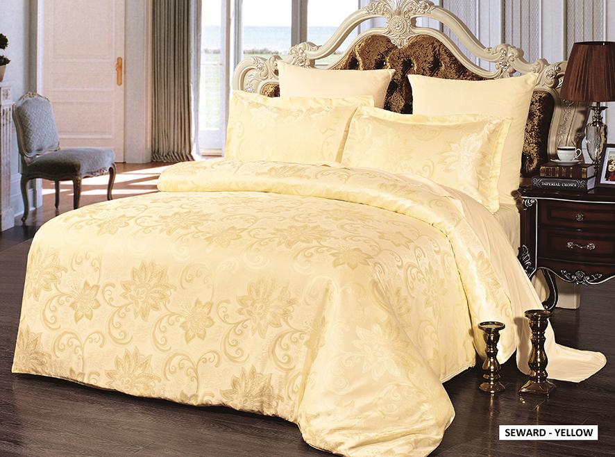 Комплект белья Arya Homer, 1,5-спальный, наволочки 50x70, 70x70, цвет: желтыйTR8564200Роскошный комплект постельного белья Arya Homer состоит из пододеяльника, простыни и двух наволочек, выполненных из микрофибры. Постельное белье из микрофибры - это вариант для практичных и экономных хозяек. Ткань производится из тончайших волокон, поэтому она такая мягкая и приятная на ощупь. Микрофибра не впитывает влагу, а пропускает ее через себя и выводит наружу, поэтому очень быстро сохнет. Постельное белье из микрофибры приято на ощупь и почти не электризуется. Эта ткань больше других синтетических похожа на хлопок. При правильном уходе такое белье не выцветет и не полиняет после множества стирок. Благодаря такому комплекту постельного белья вы создадите неповторимую атмосферу в вашей спальне.