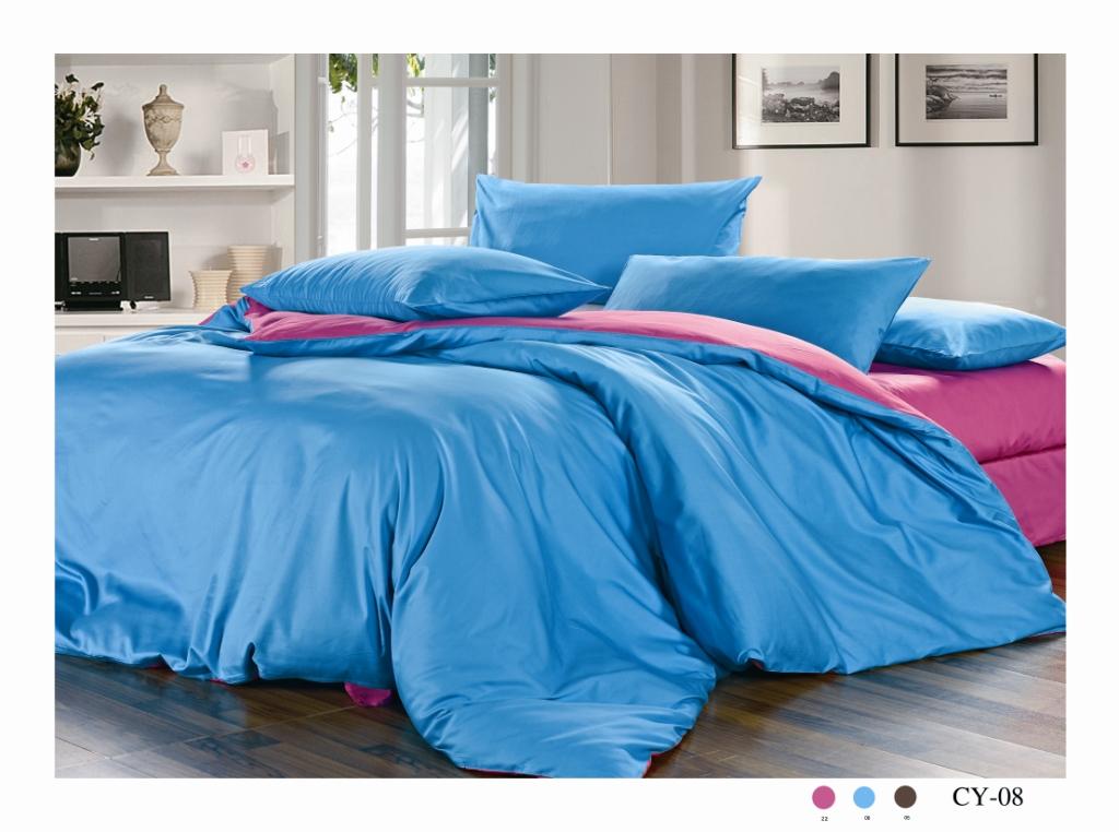 Комплект белья Arya, двухсторонний, 2-х спальный, наволочки 50x70, 50x70, цвет: розовый, синийF0010388Комплект постельного белья линии Сатин изготовлен из двустороннего однотонного хлопкового сатина. Сатин – прочная и плотная ткань с диагональным переплетением нитей. Хлопковый сатин по мягкости и гладкости уступает атласу, зато не будет соскальзывать с кровати. Сатиновое постельное белье легко переносит стирку в горячей воде, не выцветает. Прослужит комплект из обычного сатина меньше, чем из сатина повышенной плотности, но дольше белья из любой другой хлопковой ткани. Сатин приятен на ощупь, под ним комфортно спать летом и зимой. Компания Arya создана в 1992 году в Стамбуле, вскоре она стала лидером турецкого рынка текстиля. Бренд следует всем веяниям моды, это касается современных дизайнов, инновационных материалов. На нашем сайте вы встретите комплекты из бамбука и эвкалипта, а также из традиционных материалов: сатина, жаккарда, шелка. Все товары соответствуют санитарным и гигиеническим нормам, принятым в России. Готовые изделия в красивых упаковках продают в Турции, России и СНГ....