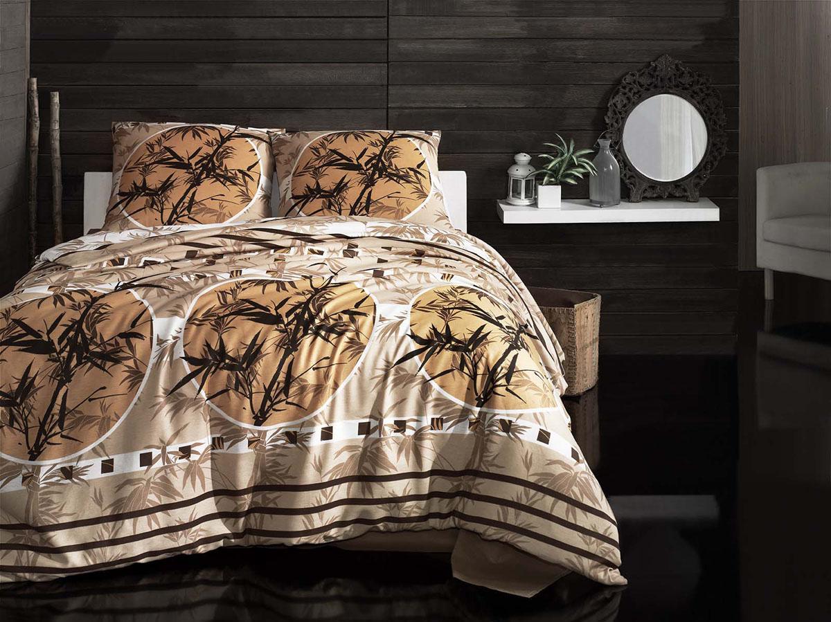 Комплект белья Arya Zen, 1,5-спальный, наволочки 70x70, цвет: бежевыйF0090683Комплект постельного белья линии Otel изготовлено из хлопкового ранфорса,белоснежного цвета. Ранфорс – это ткань самого простого полотняного плетения из очень тонких хлопковых нитей. Благодаря этому он может впитывать влагу до 20% от своего веса, оставаясь сухим на ощупь. Окрашенные по самой современной технологии простыни из ранфорса не теряют свой цвет даже после множества стирок. Постельное белье из этого материала лучше бязи, но по плотности и износостойкости уступает сатину. Подкупает в нем простота в уходе и удивительная способность впитывать влагу. Производитель данного постельного белья- Компания Arya- создана в 1992 году в Стамбуле. Довольно быстро она стала лидером турецкого рынка текстиля. Бренд следует всем веяниям моды, это касается как современных дизайнов, так и инновационных материалов. На нашем сайте вы встретите комплекты из бамбука и эвкалипта, а также из традиционных материалов: сатина, жаккарда, шелка. Все товары соответствуют санитарным и гигиеническим нормам,...