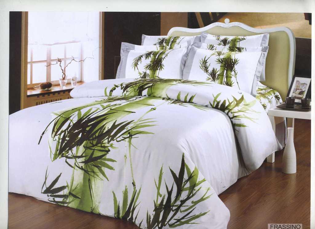 Комплект белья Arya Frassino, 2-х спальный, наволочки 50x70, 70x70, цвет: белыйF0003605Комплект постельного белья линии Бамбук изготовлен из бамбукового сатина. Постельное белье из бамбука по своим качествам превосходит хлопковый сатин: бамбук не вызывает аллергии, не накапливает статическое электричество, обладает бактерицидными свойствами. Благодаря сатиновому переплетению нитей, бамбуковое постельное белье очень прочное и прослужит вам много лет. Эта ткань почти не мнется. Чтобы получить мягкие и прочные волокна, стебли бамбука подвергают термической обработке. Как и любая другая ткань, бамбуковый сатин на 100% состоит из натуральных волокон. Производитель данного постельного белья- Компания Arya- создана в 1992 году в Стамбуле. Довольно быстро она стала лидером турецкого рынка текстиля. Бренд следует всем веяниям моды, это касается как современных дизайнов, так и инновационных материалов. На нашем сайте вы встретите комплекты из бамбука и эвкалипта, а также из традиционных материалов: сатина, жаккарда, шелка. Все товары соответствуют санитарным и гигиеническим...