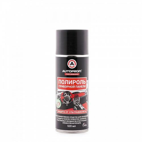Полироль для приборной панели Autoprofi, с УФ-защитой ароматом клубники, 520 мл150407Высокоэффективное средство для обновления и защиты панели приборов, бамперов, пластиковых молдингов и внутренних элементов интерьера. Специально разработанный состав включает моющие, ароматические и антистатические добавки. Средство мягко очищает пластиковые и виниловые детали, восстанавливает блеск приборной панели, молдингов и других элементов салона. Ароматизирует салон, создает влаготталкивающую пленку, придает обработанной поверхности антистатические свойства и препятствует оседанию пыли. Обладает длительным эффектом. Способ применения. Встряхнуть флакон. Равномерно нанести состав на очищенную сухую поверхность. Дать составу подсохнуть 1 минуту. Протереть обработанную поверхность сухой мягкой тканью. При необходимости повторить процедуру. Условия хранения. Хранить в сухом проветриваемом месте при температуре от –20°С до +50°С.