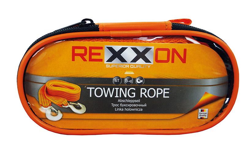 Трос буксировочный REXXON с крюками в чехле на молнии, 6 т, 4 м (±0,2 м)1-05-1-3-3-3