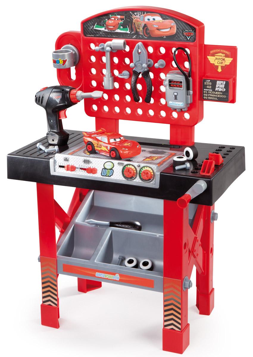 Smoby Игровой набор Ремонтная мастерская Тачки с машинкой Молния МакКуин