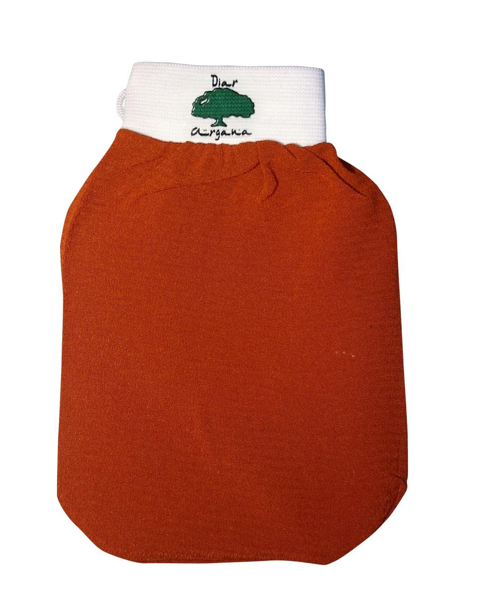 Дом Арганы Рукавица Кесса, цвет: оранжевый70223/3Рукавица Кесса используется в традиционной процедуре марокканского хаммама в качестве гомажа (пилинга). Благодаря уникальной текстуре рукавица способствуют скатыванию отмершего эпителия, удалению загрязнений и улучшению микроциркуляции кожи. Также подходит для использования в бане и ванной.