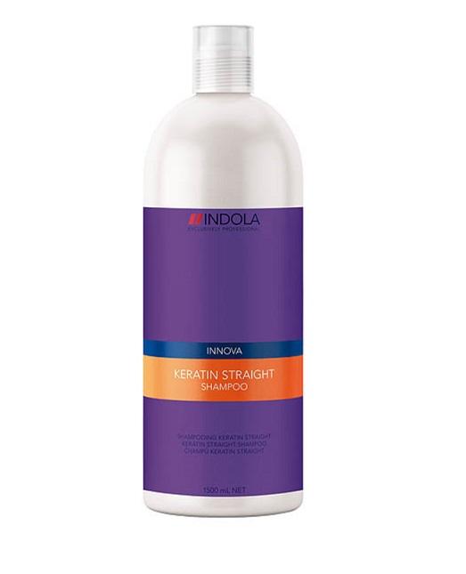 Indola Кератиновое выпрямление шампунь Keratin Straight Shampoo – 1500 мл1613480/176414 СТИКIndola Innova Keratin Straight - Шампунь для выпрямления волос Данный очищающий шампунь необходимо использовать как 1 из 5 шагов процедуры керативного выпрямления волос. Благодаря новой формуле, содержащией Кератин-полиер, волосы покрываются защитной оболочкой, которая помогает их выпрямить и не дает завиться. При применении всего комплекса кератинового выпрямления волос из 5 шагов: Шампунь, Кондиционер, Бальзам, Маска, Масло Indola Вам обеспечены гладкие, прямые волосы, которые будут выглядеть идеально до 2 суток!
