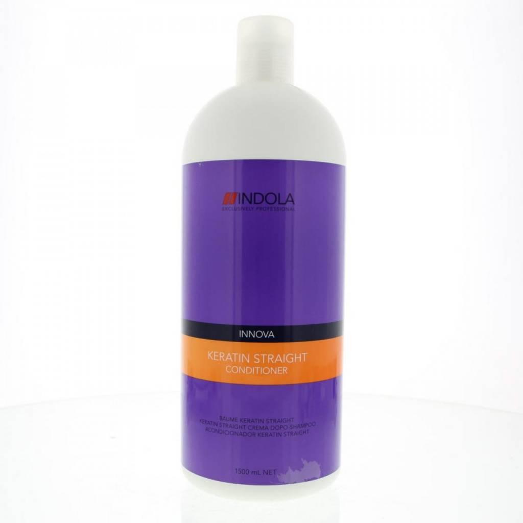 Indola Кератиновое выпрямление кондиционер Keratin Straight Conditioner – 1500 мл1613483/176377 СТИКДанный питательный кондиционер необходимо использовать как 2 из 5 шагов процедуры кератинового выпрямления волос Indola Keratin straight. Волосы становятся более послушными, даже самые сложные, вьющиеся и непокорные легко расчесывают. При использовании всего комплекса кератинового выпрямления волос из 5 шагов, состоящего из использования Шампуня, Кондиционера, Бальзама, Маски и Масла Ваши волосы сохранят идеальную гладкость до 48 часов!