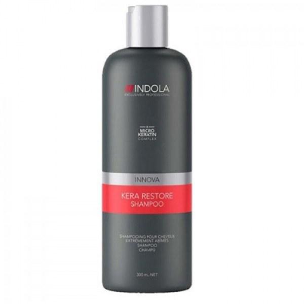 Indola Кератиновое восстановление шампунь Keratin Restore Shampoo – 300 мл1854735/266375Indola Innova Kera Restore Shampoo — шампунь, который мягко очищает и восстанавливает сильно поврежденные волосы после химического или физического воздействия. Формула с микронизированным кератином глубоко проникает в структуру волоса и восстанавливает структуру, упругость и силу.