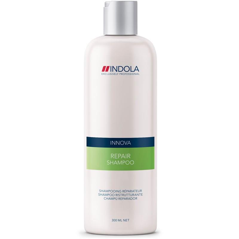 Indola Шампунь восстанавливающий для волос Innova Repair Shampooing - 300 мл1508041/154535СТИКIndola Innova Repair Shampoo - Шампунь восстанавливающий Поврежденные волосы нуждаются в особенно бережном очищении. Вернуть им натуральную красоту и восстановить здоровую структуру призван шампунь Indola Innova repair shampoo. Сила, мягкость, послушность и блеск волос станут результатом воздействия таких ингредиентов, как пантенол, катионовый полимер, биотин, аминокислота, витамин B3, гидролизованный белок сои. Особое место в составе шампуня занимает гидролизованный кератин, имеющий 3 направления воздействия: восстановление тела каждого волоса, поддержание здоровья и силы, придание блеска и шелковистости.