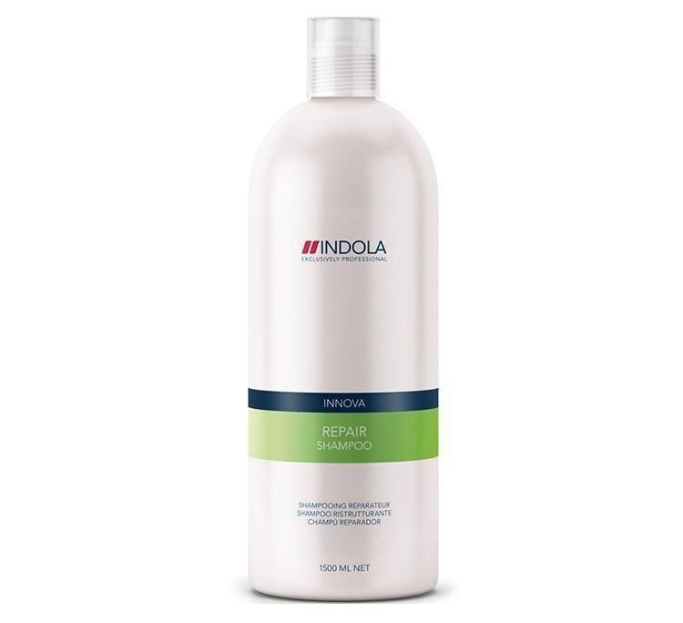 Indola Шампунь восстанавливающий для волос Innova Repair Shampooing - 1500 мл1635629/154511/СТИКIndola Innova Repair Shampoo - Шампунь восстанавливающий Поврежденные волосы нуждаются в особенно бережном очищении. Вернуть им натуральную красоту и восстановить здоровую структуру призван шампунь Indola Innova repair shampoo. Сила, мягкость, послушность и блеск волос станут результатом воздействия таких ингредиентов, как пантенол, катионовый полимер, биотин, аминокислота, витамин B3, гидролизованный белок сои. Особое место в составе шампуня занимает гидролизованный кератин, имеющий 3 направления воздействия: восстановление тела каждого волоса, поддержание здоровья и силы, придание блеска и шелковистости.
