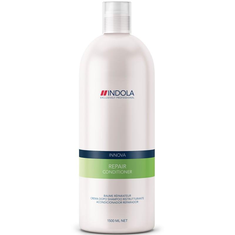 Indola Кондиционер восстанавливающий для волос Innova Repair Conditioner - 1500 мл1685636/155679СТИКIndola Innova Repair Conditioner - Кондиционер восстанавливающий Кондиционер Indola repair conditioner создан специально для быстрого оздоровления поврежденных волос. Содержит восстановительный комплекс с аминокислотами, провитамином В5 и протеином пшеницы. Насыщает волосы влагой, избавляет от сухости, придает волосам здоровый внешний вид. Волосы становятся эластичными, блестящими и отлично укладываются. Кондиционер восстанавливающий Indola repair conditioner защищает волосы от вредных воздействий.