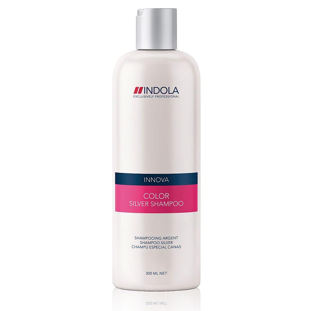 Indola Шампунь, придающий серебристый оттенок волосам Innova Color Shampooing Silver - 300 мл1508051/154283СТИКШампунь, в состав которого входят фиолетово-синие пигменты, нейтрализующие нежелательные желтые оттенки, придаст вашим волосам серебристый блеск, подчеркнет яркость светлых или седых волос. Гидролизованный кератин защитит структуру волоса изнутри.