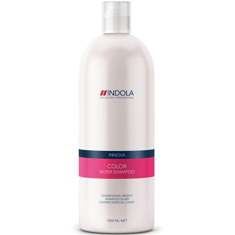 Indola Шампунь, придающий серебристый оттенок волосам Innova Color Shampooing Silver - 1500 мл1635609/154269СТИКШампунь Indola Innova Color Shampooing Silver, в состав которого входят фиолетово-синие пигменты, нейтрализующие нежелательные желтые оттенки, придаст вашим волосам серебристый блеск, подчеркнет яркость светлых или седых волос. Гидролизованный кератин защитит структуру волоса изнутри.