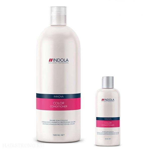 Indola - Кондиционер для окрашенных волос Innova Color Conditioner 1500 мл1635624/154306СТИККондиционер для окрашенных волос Индола поможет сохранить надолго яркость окрашенных волос, даже после 30-го мытья волос. Содержит в себе масла абрикосовых косточек, защитный Уф-фильтр, гидролизованный кератин и экстракты минерала. Данный состав укрепит структуру волос, защитит от вредного воздействия солнечный лучей, придаст блеск, яркость и силу.