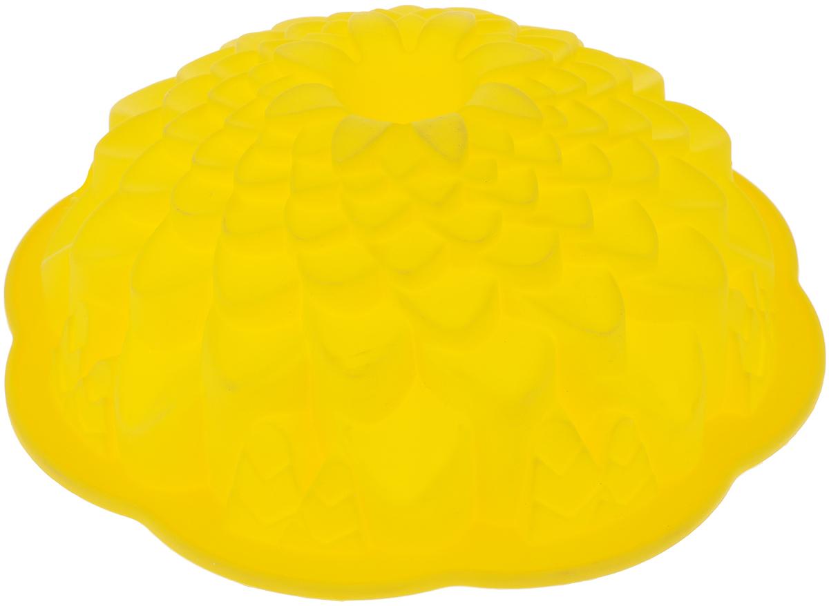 Форма для выпечки кекса Mayer & Boch Хризантема, круглая, цвет: желтый, диаметр 22 см22075_желтыйКруглая форма Mayer & Boch Хризантема будет отличным выбором для всех любителей выпечки. Благодаря тому, что форма изготовлена из силикона, готовую выпечку вынимать легко и просто. Стенки формы оснащены рельефной поверхностью. Форма прекрасно подходит для выпечки кексов. С такой формой вы всегда сможете порадовать своих близких оригинальной выпечкой. Материал изделия устойчив к фруктовым кислотам, может быть использован в духовках, микроволновых печах, холодильниках (выдерживает температуру от -40°C до 230°C). Можно мыть в посудомоечной машине. Диаметр (по верхнему краю): 22 см. Высота стенок: 8 см.