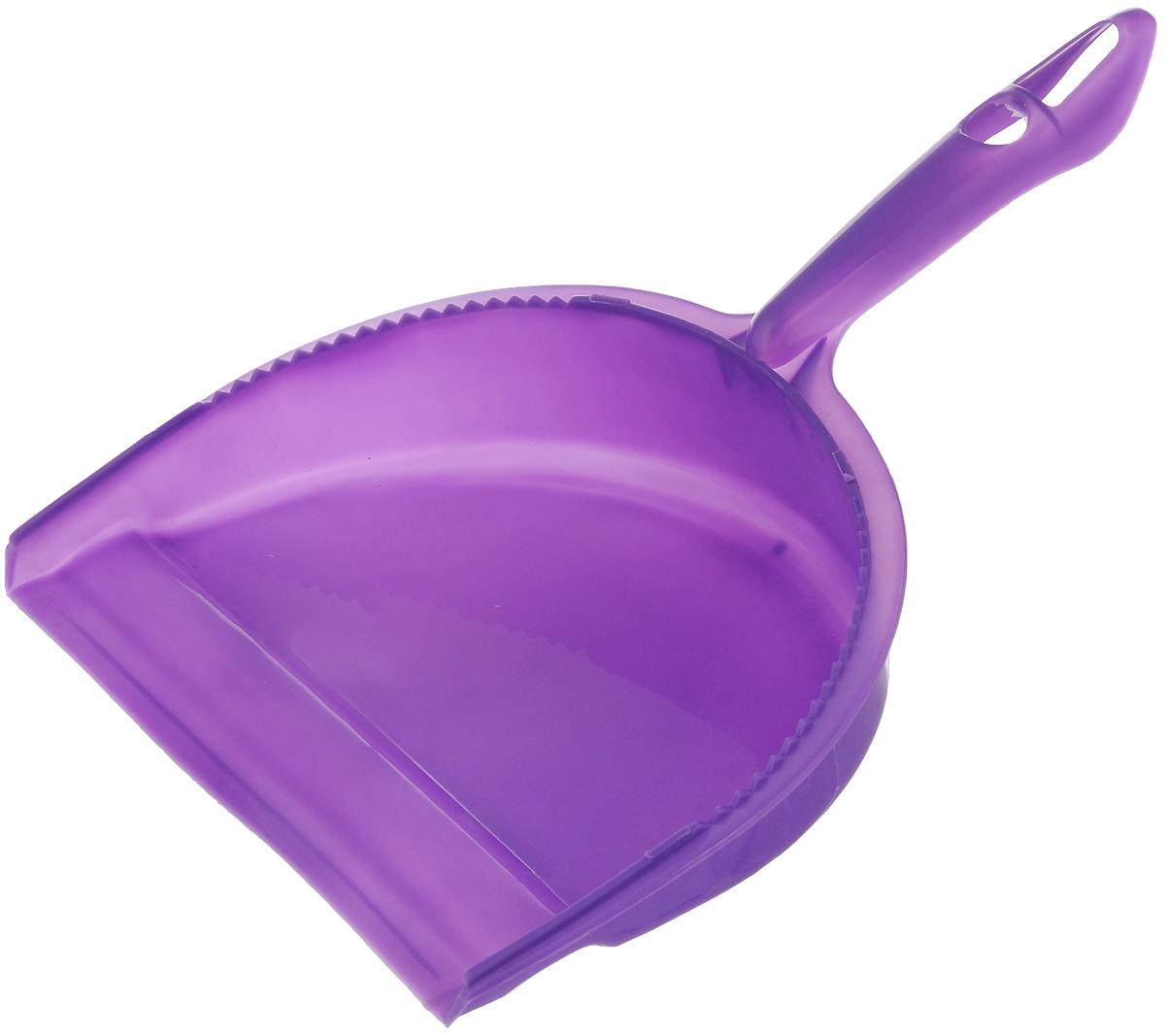 Совок для мусора Фэйт Джокер, цвет: фиолетовый1.4.02.1863Совок Фэйт Джокер предназначен для сбора мусора и пыли при уборке помещений. Он выполнен из прочного пластика и имеет удобную эргономическую ручку. Длина совка: 28,5 см. Ширина совка: 21 см.