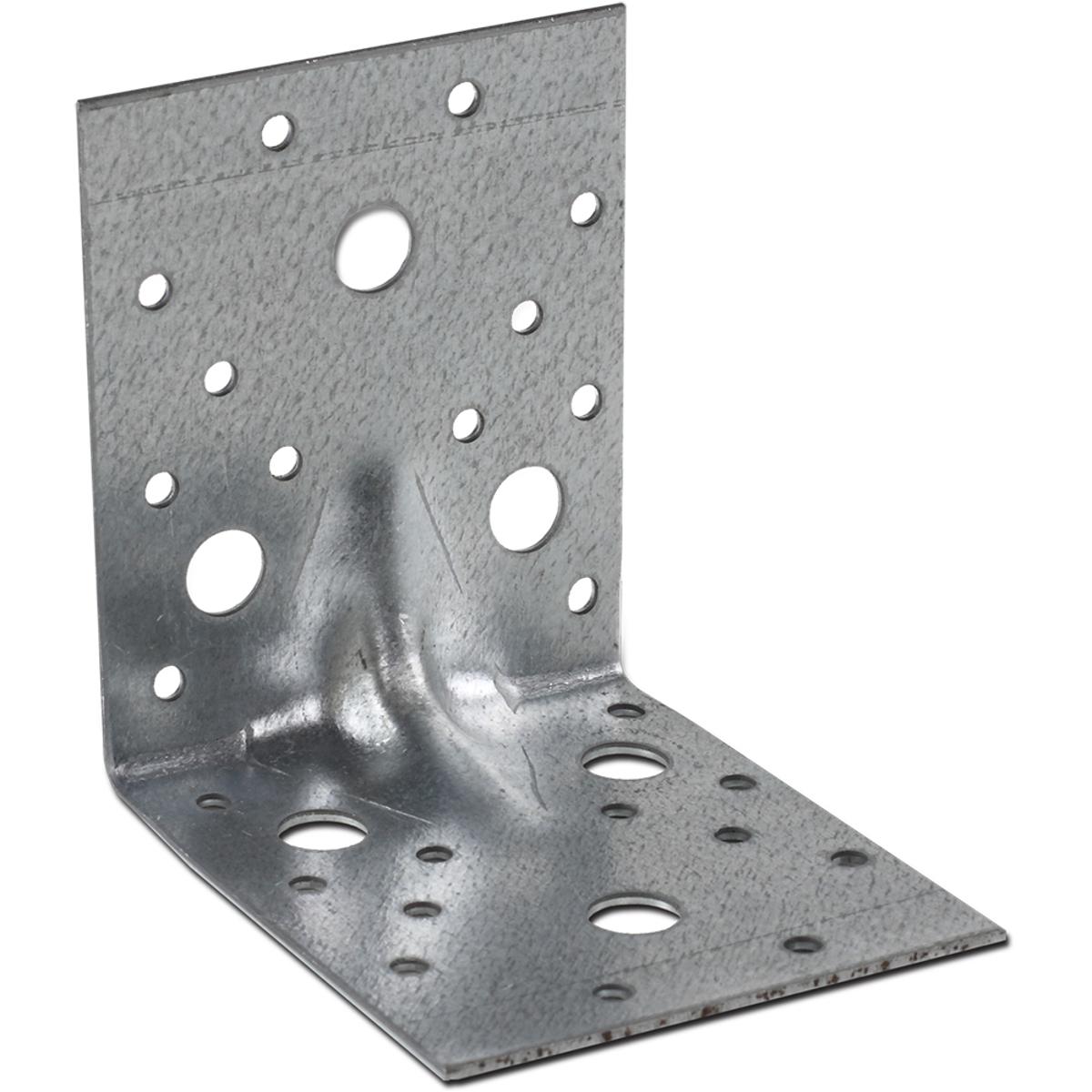 Крепежный уголок Госкрепеж, усиленный, 90 х 90 х 65 мм, 8 штКР.090823Уголок усиленный — крепежный уголок с штампованным ребром на сгибе. Уголок усиленный применяется в коттеджном домостроении, в монтажных и общестроительных работах. Уголок имеет одно ребро жесткости. Уголок усиленный ребром жесткости надежен при организации кровельных, фасадных и прочих стропильных систем. Уголок имеет отверстия под саморезы и болты, диаметром пять и тринадцать миллиметров соответственно.