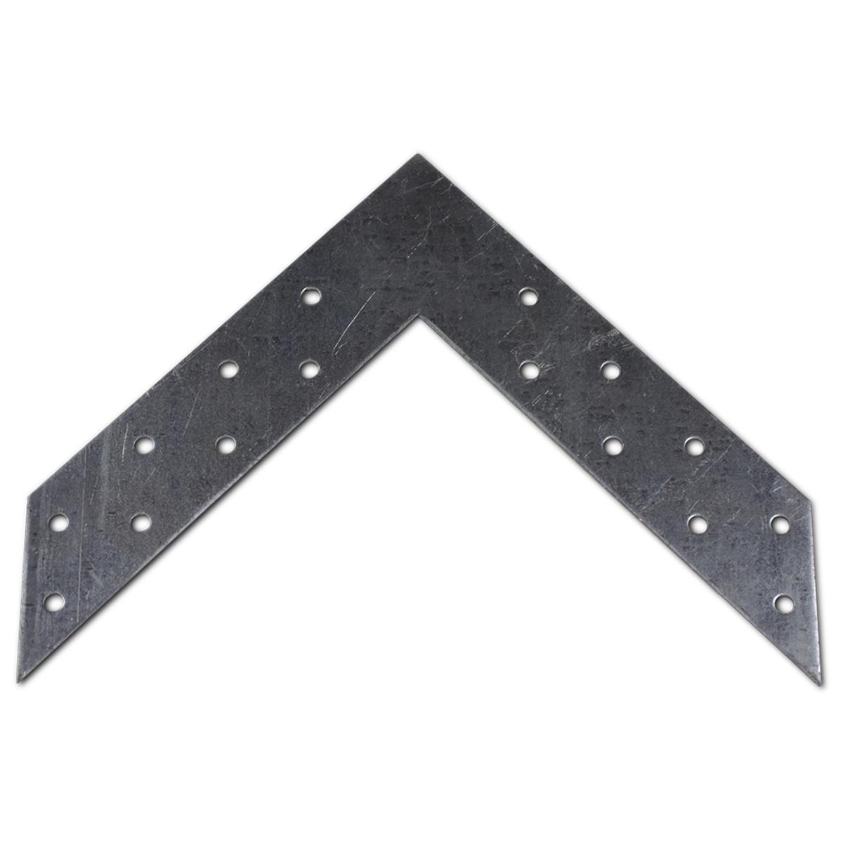 Угловой соединитель Госкрепеж, 145 х 145 х 35 мм, 8 штКР.090915Угловой соединитель предназначен для углового соединения деревянных элементов в одной плоскости, под углом 90°.