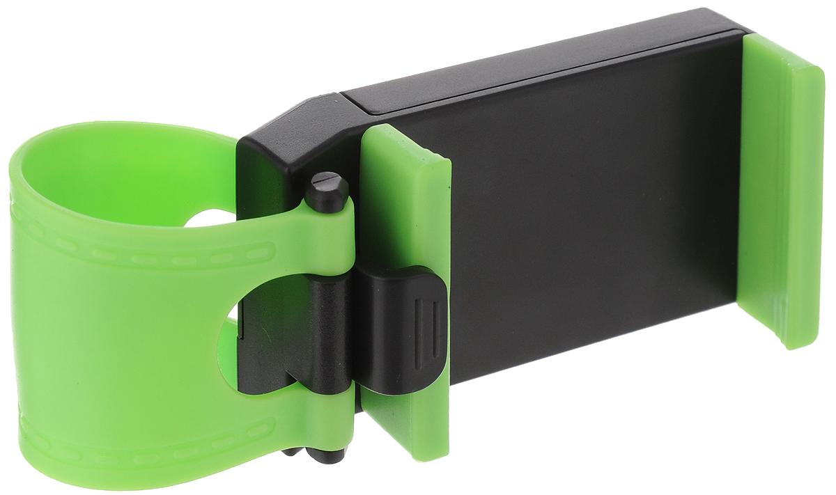 Держатель для телефона Sapfire Mobile, на руль автомобиля, расширение 7,5 см0921-SAMУниверсальный держатель для мобильного телефона Sapfire Mobile станет незаменимым аксессуаром в вашем автомобиле. Изделие устанавливается на автомобильный руль при помощи ремня, выполненного из термопластичной резины. Держатель изготовлен из высококачественного ABS пластика. Ударопрочная противоскользящая конструкция гарантирует удобство пользования и сохранность вашего устройства. Максимальное расширение зажима: 7,5 см.