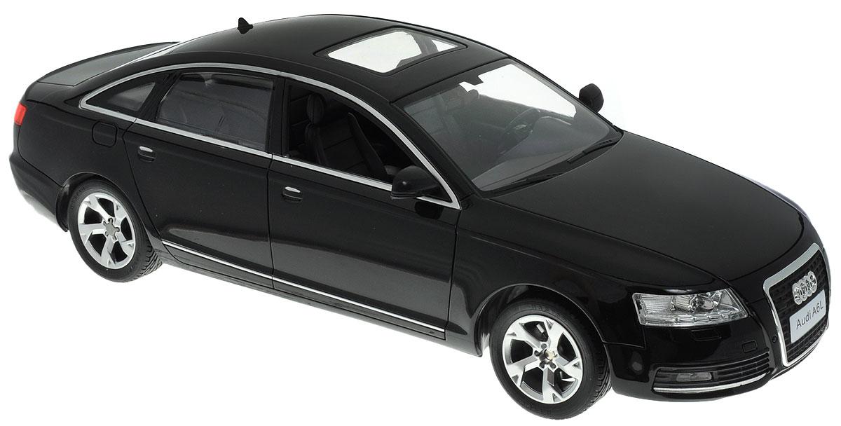 Rastar Радиоуправляемая модель Audi A6L цвет черный42100Радиоуправляемая модель Rastar Audi A6L будет отличным подарком как ребенку, так и взрослому коллекционеру. Это авто обладает неповторимым провокационным стилем и спортивным характером. А серьезные габариты придают реалистичность в управлении. Маневренная и реалистичная уменьшенная копия Audi A6L выполнена в точной детализации с настоящим автомобилем в масштабе 1:14. Управление машинкой происходит с помощью пульта. Машинка двигается вперед и назад, поворачивает направо, налево и останавливается. Имеются световые эффекты. Колеса игрушки прорезинены и обеспечивают плавный ход, машинка не портит напольное покрытие. Радиоуправляемые игрушки способствуют развитию координации движений, моторики и ловкости. Ваш ребенок будет играть с моделью, придумывая различные истории и устраивая соревнования. Порадуйте его таким замечательным подарком! Машина работает от 5 батареек напряжением 1,5V типа АА (не входят в комплект). Пульт управления...