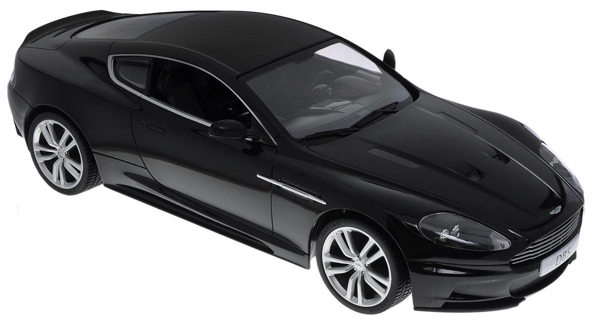 Rastar Радиоуправляемая модель Aston Martin DBS Coupe цвет черный масштаб 1:1442500_черныйРадиоуправляемая модель Rastar Aston Martin DBS Coupe станет отличным подарком не только ребенку, но и взрослому! Все дети хотят иметь в наборе своих игрушек ослепительные, невероятные и крутые автомобили на радиоуправлении. Тем более, если это автомобиль известной марки с проработкой всех деталей, удивляющий приятным качеством и видом. Одной из таких моделей является автомобиль на радиоуправлении Rastar Aston Martin DBS Coupe. Это точная копия настоящего авто в масштабе 1:14. Автомобиль детально проработан, выполнен из безопасных и качественных материалов. Возможные движения: вперед-назад, вправо-влево, остановка. Имеются световые эффекты. Пульт управления работает на частоте 27 MHz. Для работы автомобиля необходимо купить 5 батареек типа АА (не входят в комплект). Для работы пульта управления необходима батарейка типа Крона (не входит в комплект).
