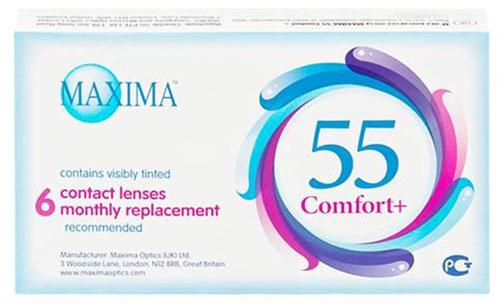 Maxima Optics Maxima контактные линзы 55 Comfort Plus (6шт / 8.6 / -3.00)