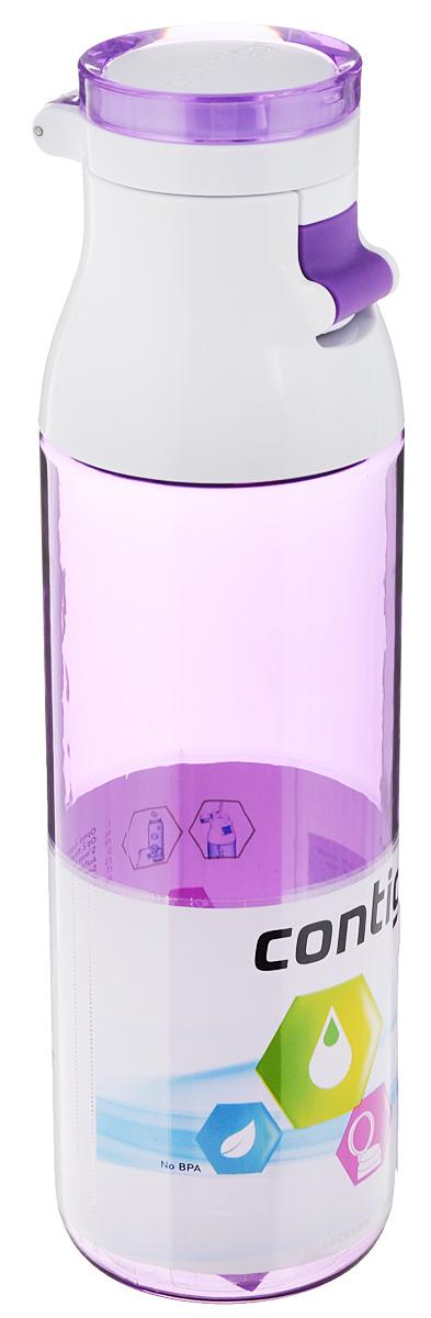 Бутылка для воды Contigo Jackson, цвет: лиловый, белый, 720 млcontigo0331Бутылка для воды Contigo Jackson изготовлена из высококачественного пластика, безопасного для здоровья. Крышка открывается одним нажатием кнопки. Оптимальный объем бутылки позволяет взять небольшую порцию напитка. Она легко помещается в сумке или рюкзаке и всегда будет под рукой. Такая идеальная бутылка небольшого размера, но отличной вместимости наполняет оптимизмом, даря заряд позитива и хорошего настроения. Бутылка для воды Contigo Jackson - отличное решение для прогулки, пикника, автомобильной поездки, занятий спортом и фитнесом. Высота бутылки (с учетом крышки): 24,5 см. Диаметр дна: 6,5 см.