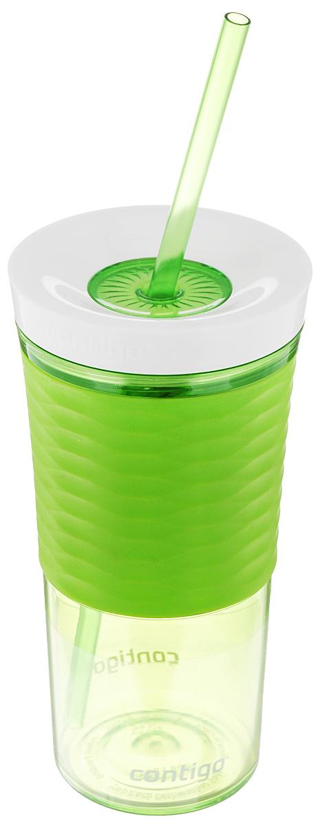 Шейкер Contigo Shake&Go, с трубочкой, цвет: зеленый, белый, 530 млcontigo0325Шейкер Contigo Shake&Go, изготовленный из высококачественного пластика, выполнен в виде стаканчика. Закручивающаяся крышка снабжена отверстием для трубочки (входит в комплект). Шейкер предназначен для холодных напитков и идеально подходит для того, чтобы взять с собой в дорогу воду, морс, смузи, шейк, чай или кофе. Двойные стенки дольше сохраняют напиток холодным. Резиновый ободок на корпусе обеспечивает надежный хват и комфорт во время использования. Вы любитель коктейлей, но времени сходить в бар у вас нет? Не расстраивайтесь. С помощью этого шейкера вы сможете приготовить самый экзотический смешанный напиток у себя дома, чем приятно удивите гостей, родных и близких вам людей. Почувствуйте себя профессиональным барменом! Можно мыть в посудомоечной машине. Диаметр шейкера (по верхнему краю): 7,5 см. Диаметр основания шейкера: 6,5 см. Высота шейкера (с учетом крышки): 17,7 см. Длина трубочки: 25 см.