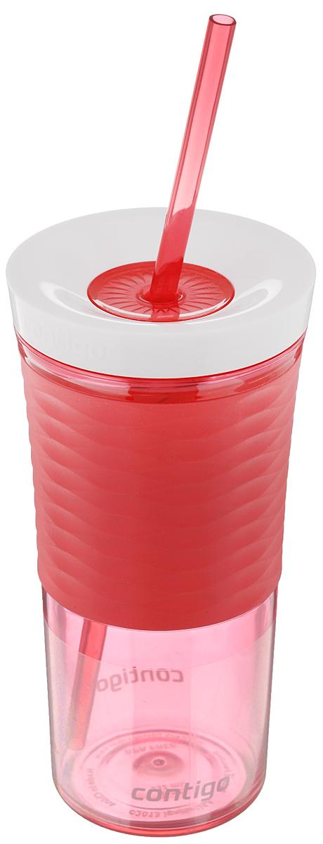 Шейкер Contigo Shake&Go, с трубочкой, цвет: коралловый, белый, 530 млcontigo0328Шейкер Contigo Shake&Go, изготовленный из высококачественного пластика, выполнен в виде стаканчика. Закручивающаяся крышка снабжена отверстием для трубочки (входит в комплект). Шейкер предназначен для холодных напитков и идеально подходит для того, чтобы взять с собой в дорогу воду, морс, смузи, шейк, чай или кофе. Двойные стенки дольше сохраняют напиток холодным. Резиновый ободок на корпусе обеспечивает надежный хват и комфорт во время использования. Вы любитель коктейлей, но времени сходить в бар у вас нет? Не расстраивайтесь. С помощью этого шейкера вы сможете приготовить самый экзотический смешанный напиток у себя дома, чем приятно удивите гостей, родных и близких вам людей. Почувствуйте себя профессиональным барменом! Можно мыть в посудомоечной машине. Диаметр шейкера (по верхнему краю): 7,5 см. Диаметр основания шейкера: 6,5 см. Высота шейкера (с учетом крышки): 17,7 см. Длина трубочки: 25 см.