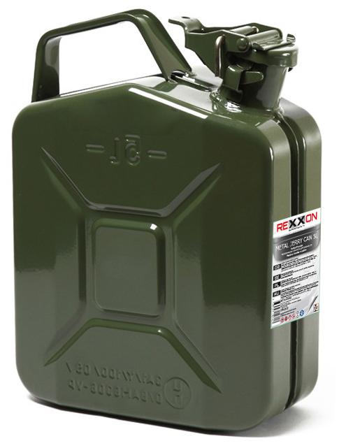 Канистра REXXON, с разрешением для бензина, металлическая, 5 л434410