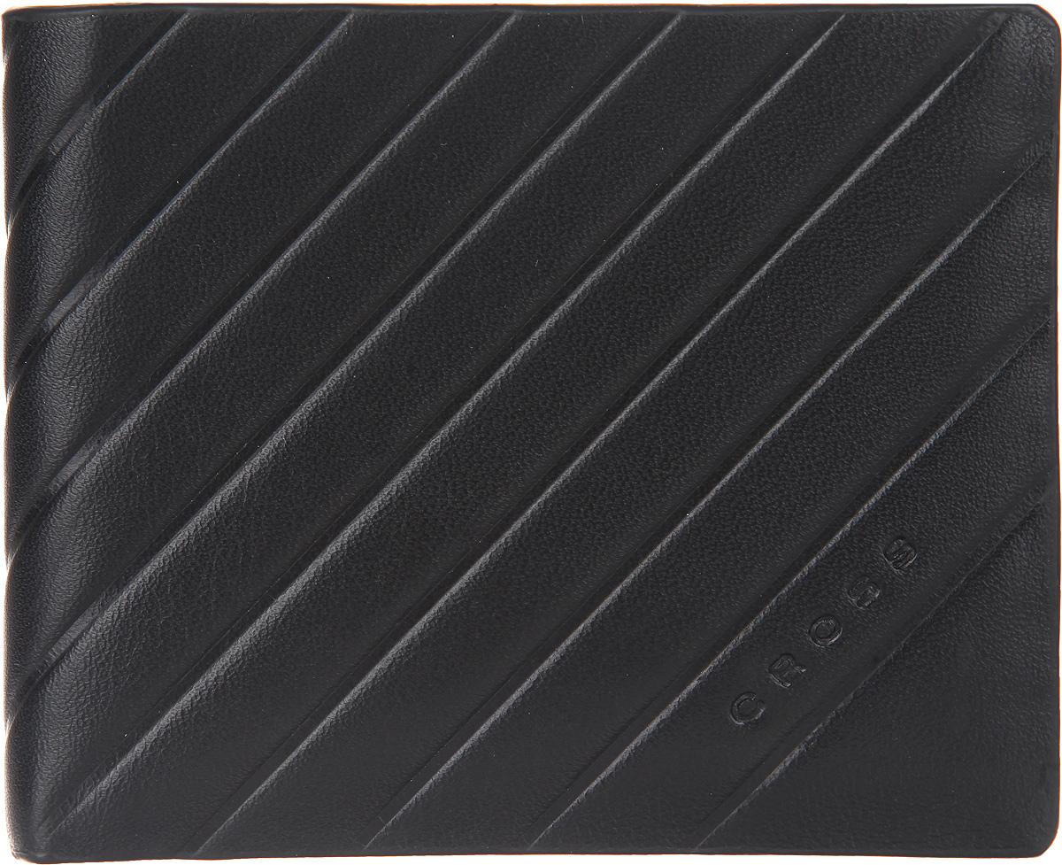 Кошелек мужской Cross, цвет: черный. AC178121-1AC178121-1Стильный мужской кошелек Cross изготовлен из натуральной кожи и оформлен декоративным тиснением с символикой бренда. Изделие раскладывается пополам. Внутри расположены два прорезных потайных кармана, два отделения для купюр, восемь карманов для кредитных карт. Практичный кошелек непременно подойдет к вашему образу, а также порадует простотой, стилем и функциональностью.