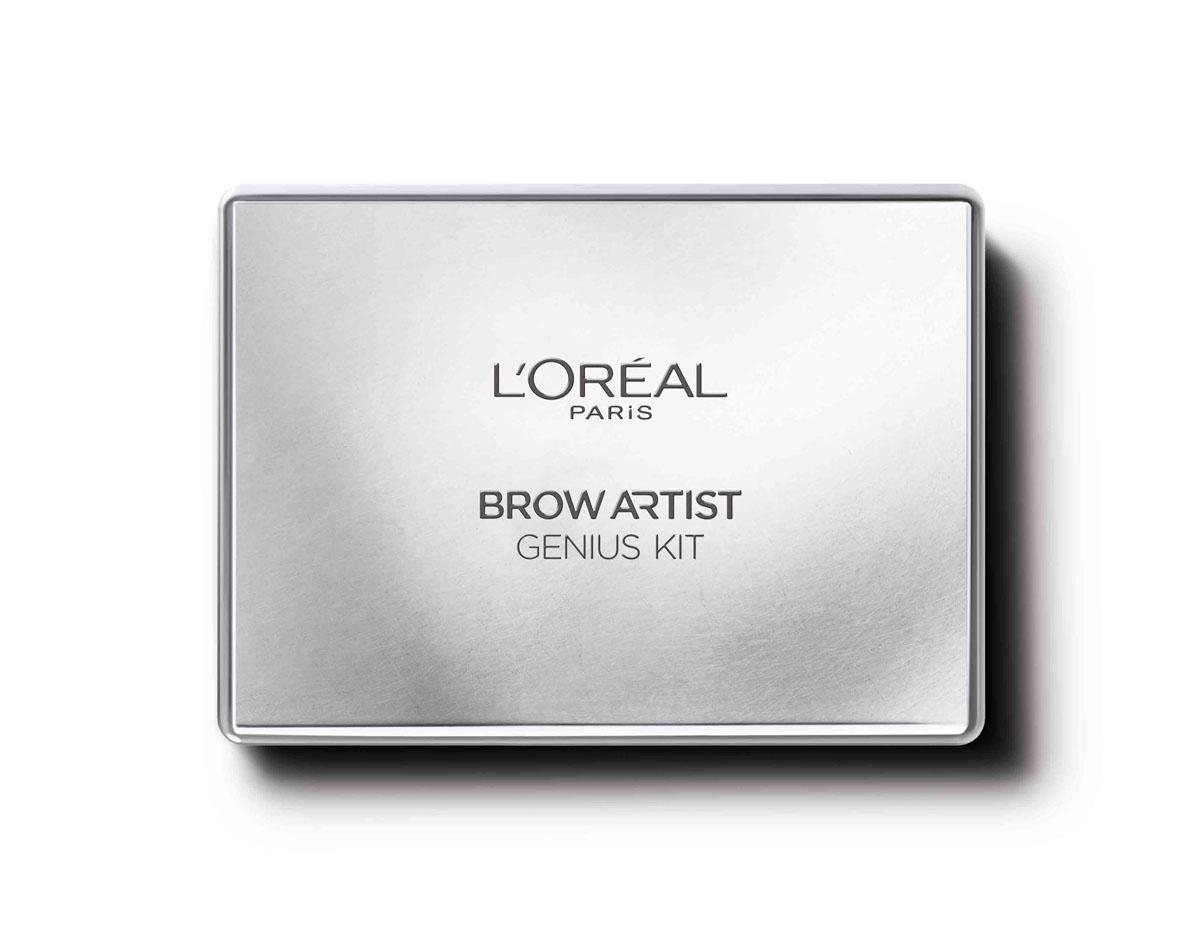 L'Oreal Paris Профессиональный набор для дизайна бровей Brow Artist, оттенок 02 темно-коричневый, 52 г