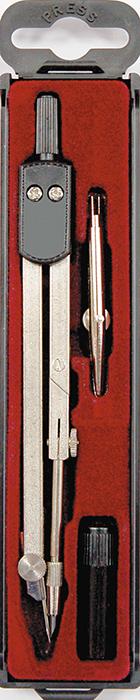 Perfecta Готовальня Studio цвет черныйSG.3P*Готовальня от Herlitz Studio включает в себя 3 предмета: металлический циркуль, с коленным соединением и подстраиваемой иглой, рейсфедер и запасной грифель. Благодаря высокому качеству материалов и сборки, надежный чертежный инструмент от Herlitz прослужат вам много лет. Отличный выбор и для учащихся, и для профессионалов. Предметы упакованы в пластиковый футляр с прозрачной крышкой и с красной бархатистой подложкой.