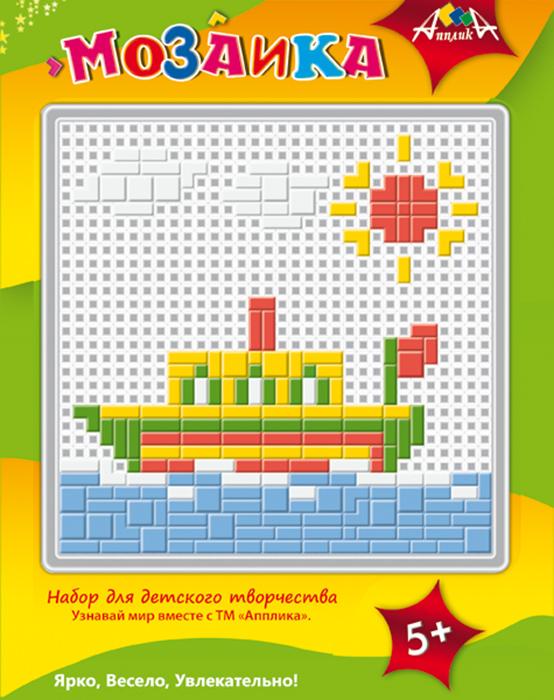 Апплика Мозаика ПароходС2429-16Набор содержит пластиковую сетчатую основу, цветные пластиковые элементы мозаики, пластиковый инструмент - щипчики. Чтобы собрать мозаику, необходимо подложить под сетчатую основу цветной образец на обложке упаковки.