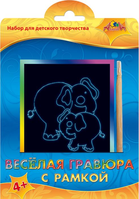 Апплика Гравюра Слон и слон