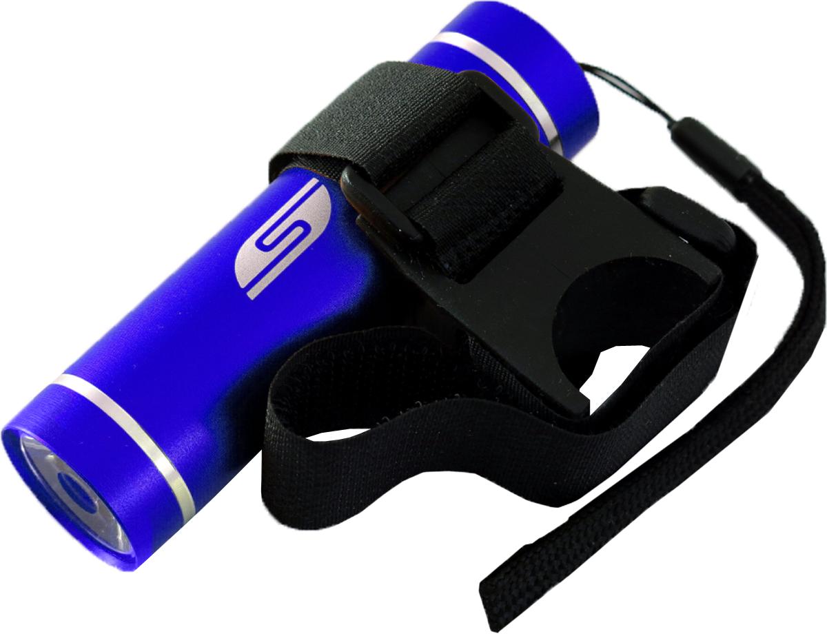 Велосипедный фонарь SOLARIS T-5V3109blueВелосипедный фонарь, можно использовать также в качестве карманного фонаря. Фонарь выполнен из качественного алюминия с защитным анодированием корпуса. Влагозащищённый — стандарт IPX6. Фонарь снабжен современным светодиодом мощностью 1 Ватт. Мощность светового потока 60 люмен, дальность эффективного излучения света 100 метров. Размеры/вес фонаря: 90мм *26мм; 40грамм (без батарей). _______________________________________________________________________________________________ Сферы применения фонаря SOLARIS T-5V В комплект фонаря входит универсальное вело крепление. Благодаря расширенной комплектации фонарь имеет различные назначения: - Велосипедный фонарь. Закрепите фонарь на руле велосипеда при помощи универсального велокрепления. Корпус велокрепления выполнен из плотной резины и снабжён нейлоновыми лентами с липучками и пряжками. Благодаря этому велокрепление подходит практически для любого диаметра руля велосипеда. Плотная резиновая основа крепления обеспечивает очень...