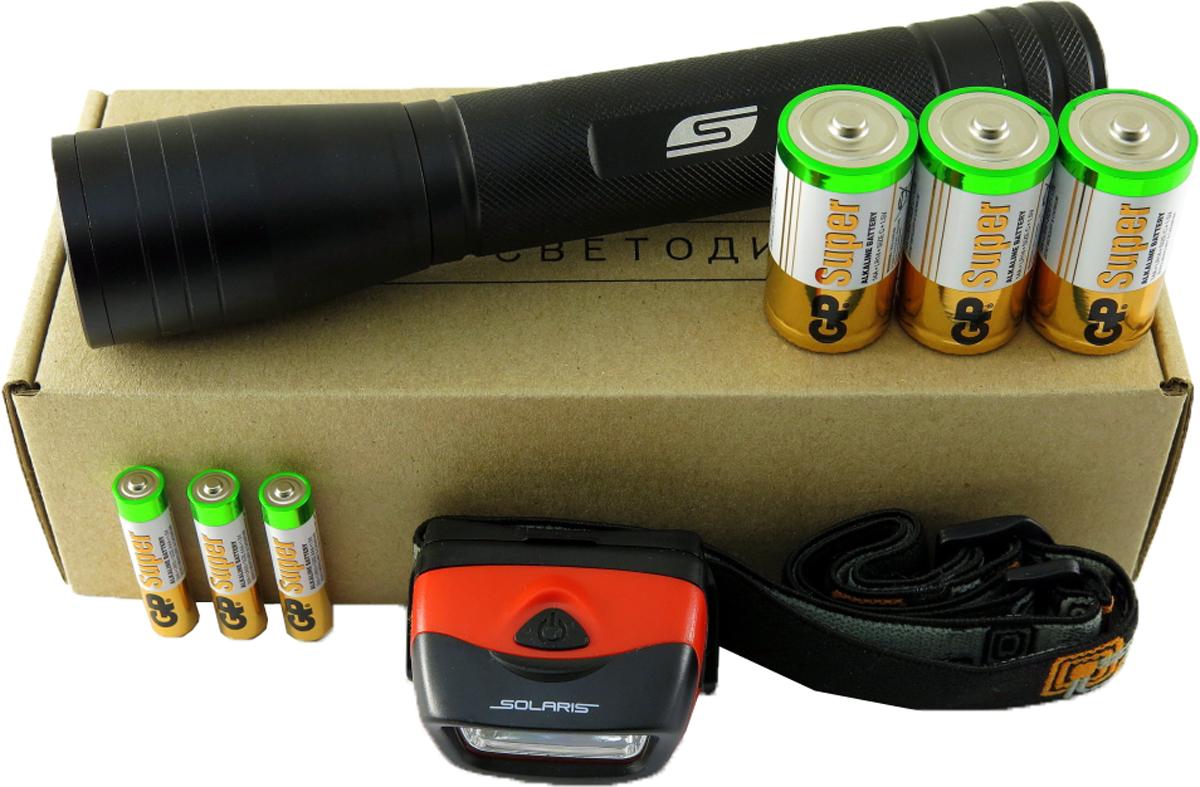 Набор фонарей SOLARIS Kit FZ-65/L204105Набор фонарей состоит из ручного туристического фонаря SOLARIS FZ-65 и налобного фонаря SOLARIS L20. Такое сочетание позволяет решать многие задачи по освещению в походе и экспедиции, на рыбалке, на даче: - Дальнобойный фонарь SOLARIS FZ-65 c функцией фокусировки - для освещения дальних объектов, в качестве поискового, экспедиционного и т.д. - Налобный фонарь SOLARIS L20 - пригодится везде, где нужны свободные руки, для освещения близких объектов. _______________________________________________________________________________________________ ОПИСАНИЕ ФОНАРЯ SOLARIS FZ-65: Мощный дальнобойный фонарь, с функцией фокусировки (ZOOM). Фонарь выполнен из авиационного алюминия с III (наивысшей) степенью защитного анодирования корпуса. Влагозащищенный — стандарт IPX6. Фонарь снабжен современным светодиодом СREE XP-G R5 (США). Мощность светового потока 300 люмен, дальность эффективного излучения света свыше 250 метров. Размеры/вес фонаря: 210мм * 41мм; 190грамм (без батарей). В этом...
