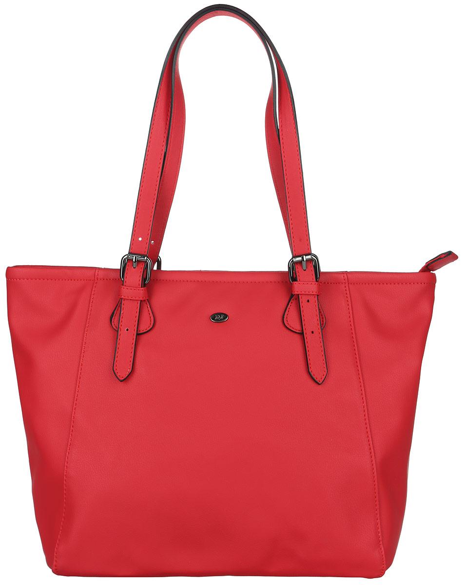 Сумка-шоппер женская David Jones, цвет: красный. 5013-65013-6 REDСтильная женская сумка-шоппер David Jones выполнена из искусственной кожи. Изделие имеет одно отделение, закрывающееся на застежку-молнию. Внутри находятся два накладных открытых кармана и прорезной карман на застежке-молнии. Снаружи, на задней стенке расположен прорезной карман на застежке-молнии. Сумка оснащена двумя регулируемыми ручками, которые позволяют носить изделие, как в руках, так и на плече. Практичный аксессуар позволит вам завершить образ и быть неотразимой.