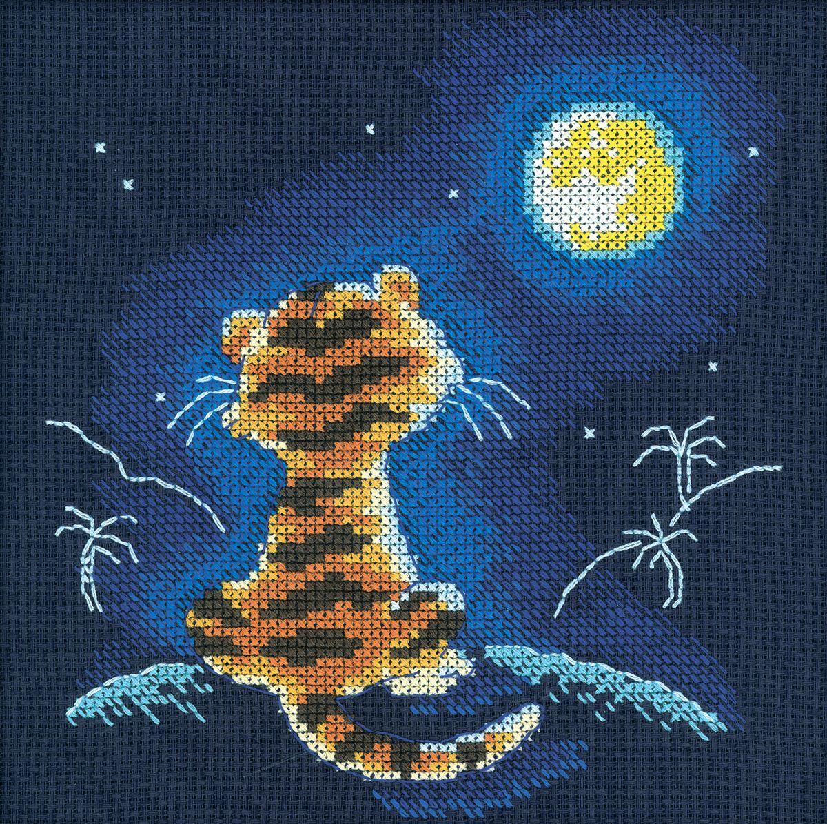 Луна звезда схема для вышивки