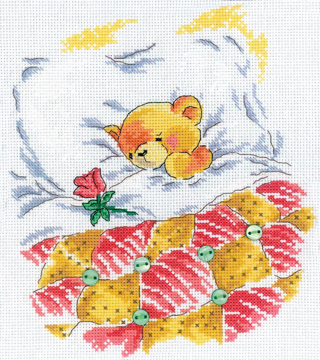 Набор для вышивания RTO Хорошо быть любимым, 20 см х 22,5 см. M208M208Мулине на карте, разобранное по цветам, канва, символьная схема, игла, инструкция