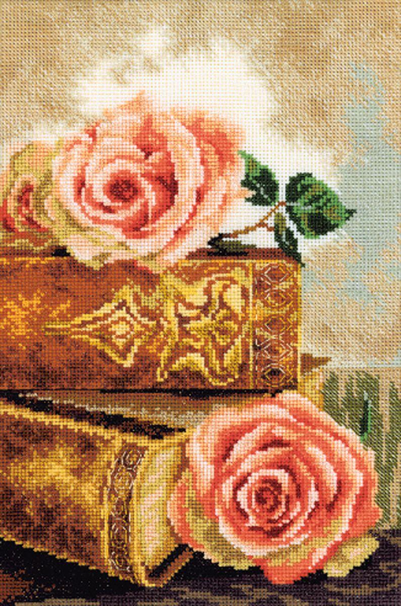 Набор для вышивания RTO Старинные книги, 20 см х 30 см. M298M298Мулине на карте, разобранное по цветам, канва, символьная схема, игла, инструкция