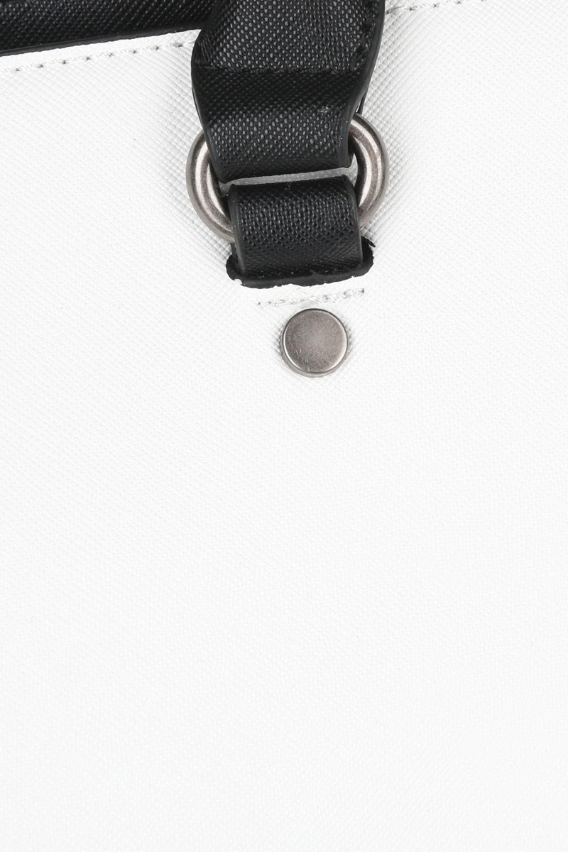 Сумка женская David Jones, цвет: черный, белый. СМ 2501