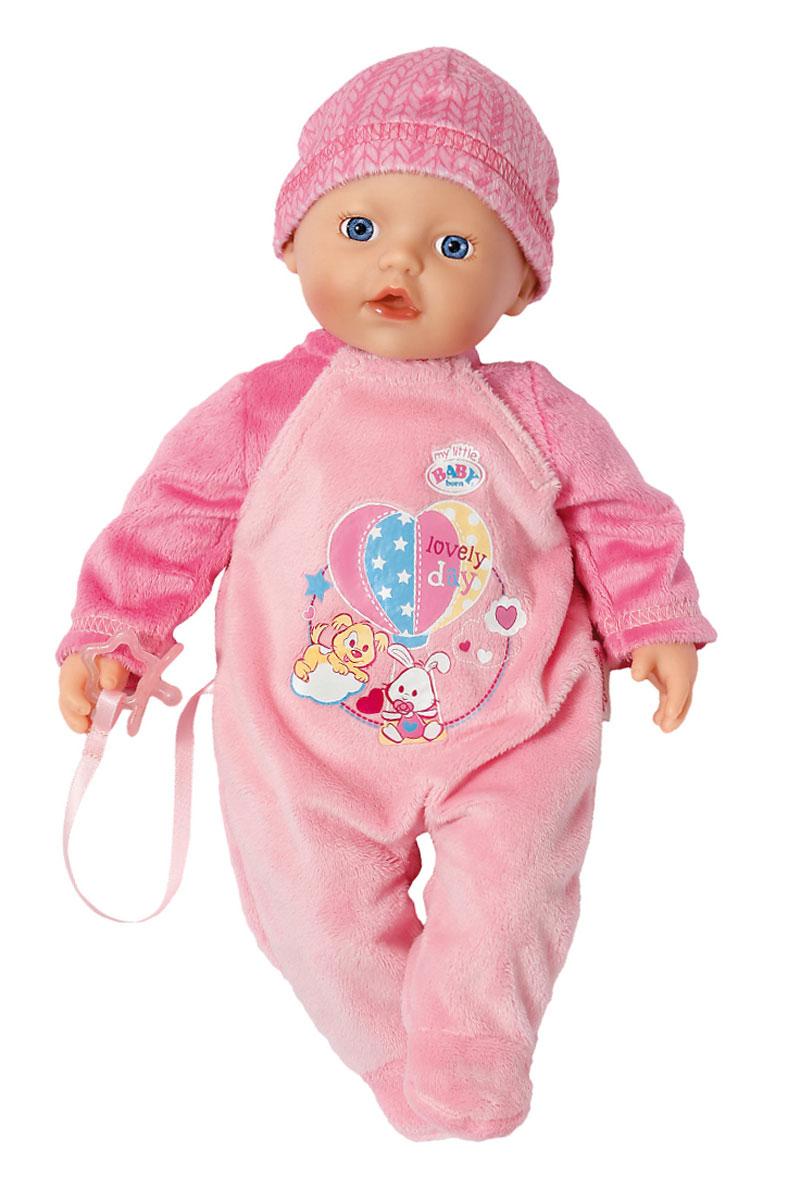 Baby Born Пупс в розовом костюме822-524Пупс Baby Born порадует вашу малышку и доставит ей много удовольствия от часов, посвященных игре с ним. Пупс с голубыми глазками имеет мягконабивное туловище и выглядит как настоящий ребенок. Он одет в розовый ворсистый костюм, оформленный яркой аппликацией и розовую шапочку. Голова, ручки и ножки пупса подвижны. В комплект с пупсом входит пустышка на текстильной ленточке, прикрепленной к комбинезону. Пупс Baby Born разовьет в вашей малышке чувство ответственности и заботы. Порадуйте свою принцессу таким великолепным подарком!