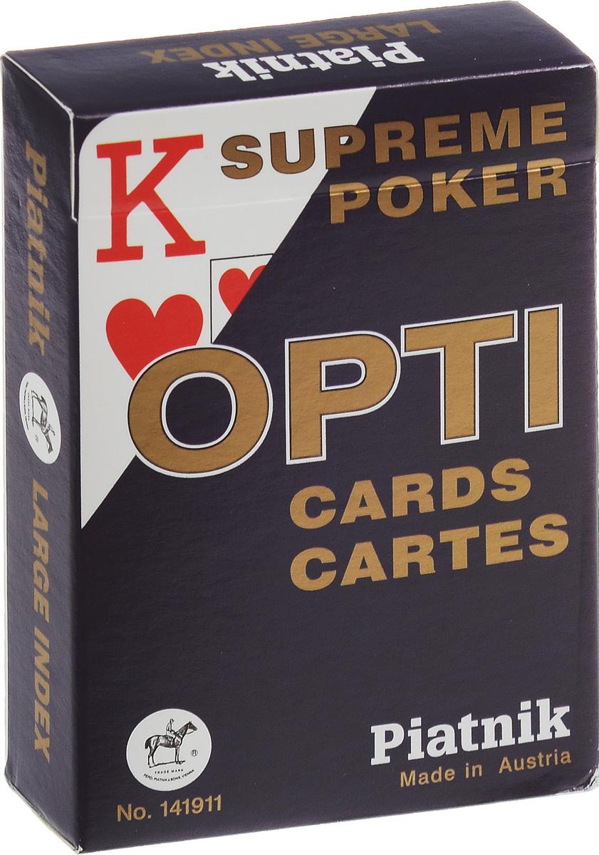 Профессиональные игральные карты Piatnik Opti Poker, цвет: синий, 55 листов1419_синийКарты Piatnik Opti Poker с увеличенным индексом предназначены для игры в покер и другие карточные игры. Карты имеют очень гладкую поверхность, покрытие из пластика и стандартный размер.