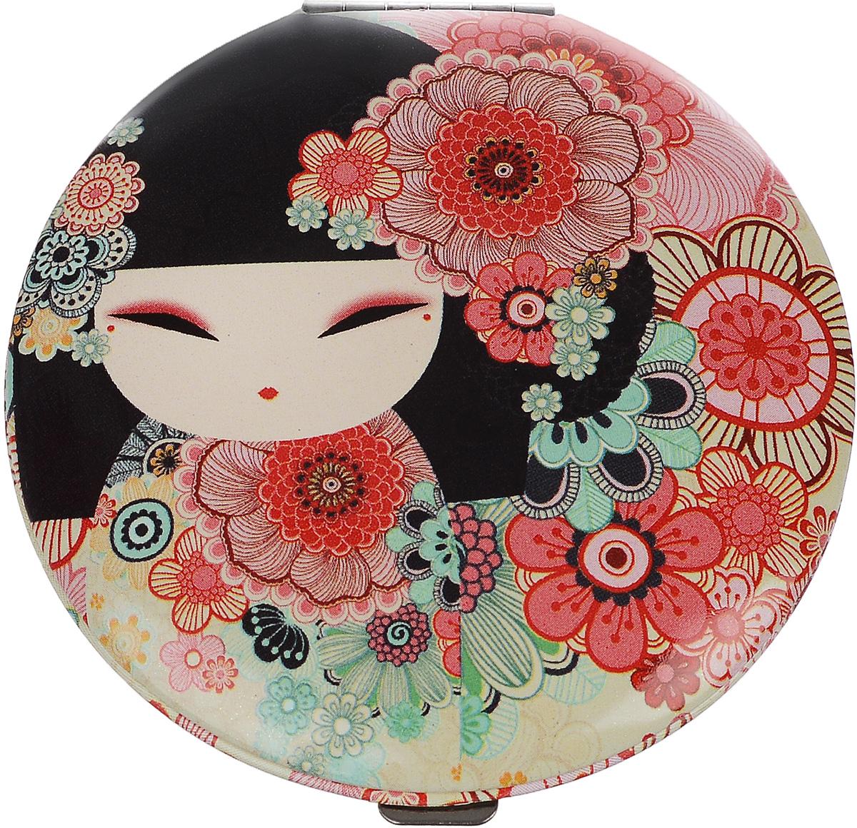 Зеркало карманное Kimmidoll Тамако (Совершенство). KF1083KF1083Изящное зеркало Kimmidoll Тамако (Совершенство) выполнено в круглом металлическом корпусе и декорировано изображением японской куколки. Внутри корпуса расположено два зеркальца - обычное и увеличивающее. Такое зеркало станет отличным подарком представительнице прекрасного пола, ведь даже самая маленькая дамская сумочка обязательно вместит в себя миниатюрное зеркальце - атрибут каждой модницы. Привет, меня зовут Тамако! Я талисман совершенства! Мной восхищаются и обожают. Ваша внутренняя красота и природное совершенство являются истинным проявлением моего удивительного духа. Пусть изысканность вашей души ярко светит в этом мире, чтобы все смогли насладиться её прекрасным светом.
