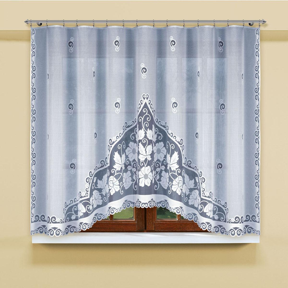 Гардина Haft, цвет: белый, ширина 300 см, высота 160 см. 201120/160201120/160Гардина из жаккардовой ткани контрастого белого цвета Размеры: высота160х ширина300