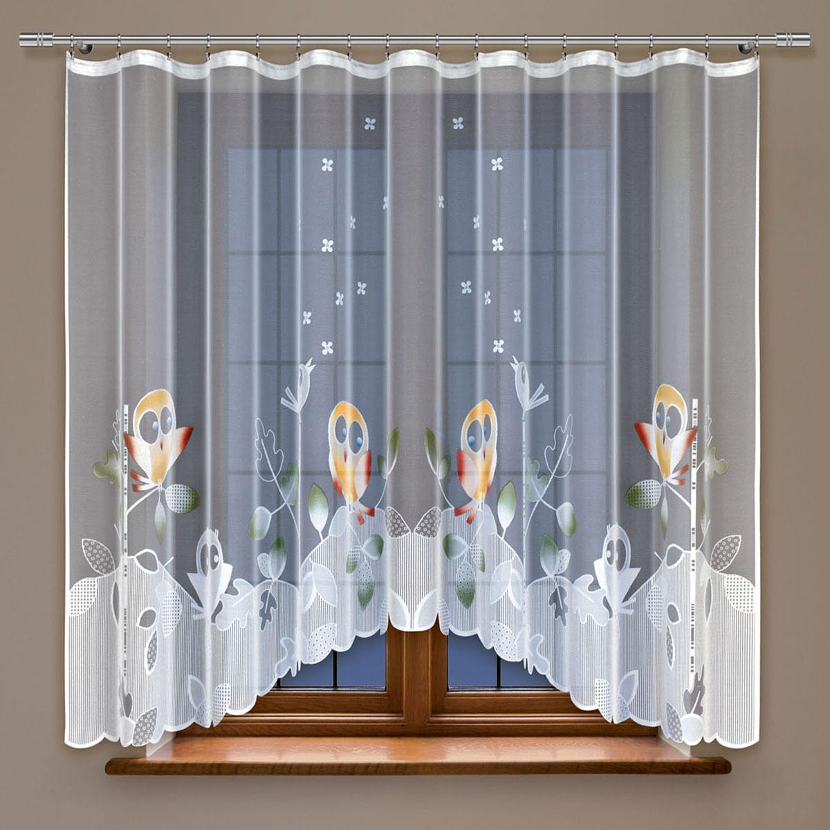 Гардина Haft, на ленте, цвет: белый, высота 160 см. 213970213970/160Гардина Haft, изготовленная из полиэстера, станет великолепным украшением любого окна. Тонкое плетение и оригинальный дизайн привлекут к себе внимание. Изделие органично впишется в интерьер. Гардина крепится на карниз при помощи ленты, которая поможет красиво и равномерно задрапировать верх.