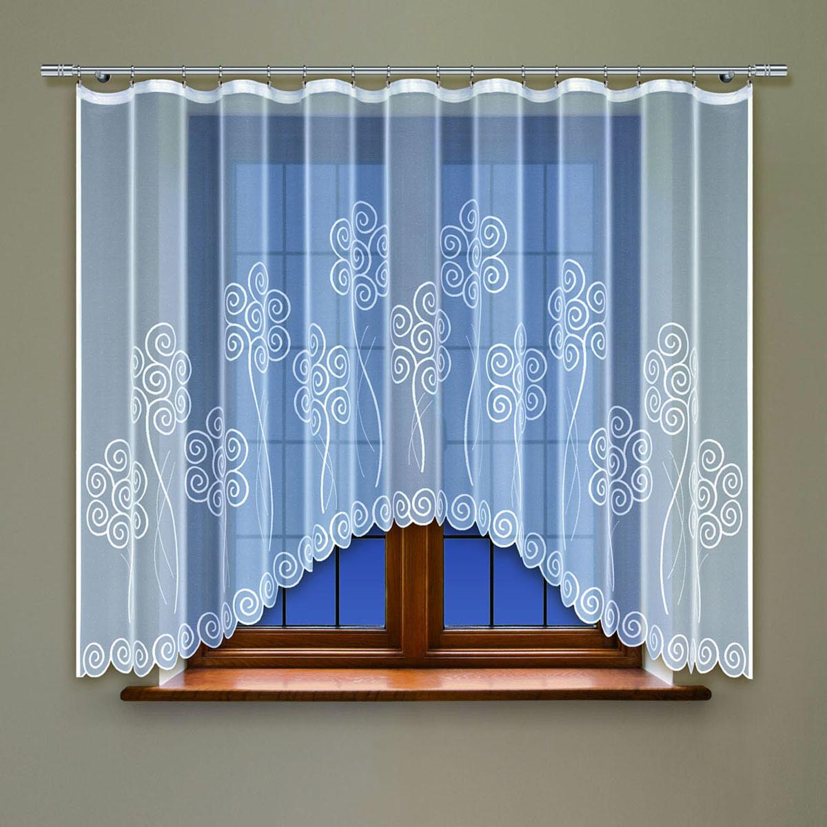Гардина Haft, цвет: белый, ширина 300 см, высота 160 см. 214150/160214150/160Жаккардовая гардина-арка белого цвета Размеры: высота 160см * ширина 300см