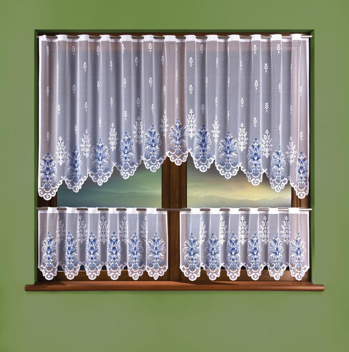 Комплект штор Wisan, цвет: белый, высота 50 см3325Комплект штор для кухни, крепление зажимы для штор. Размеры: 240*90+ (130*50)*2