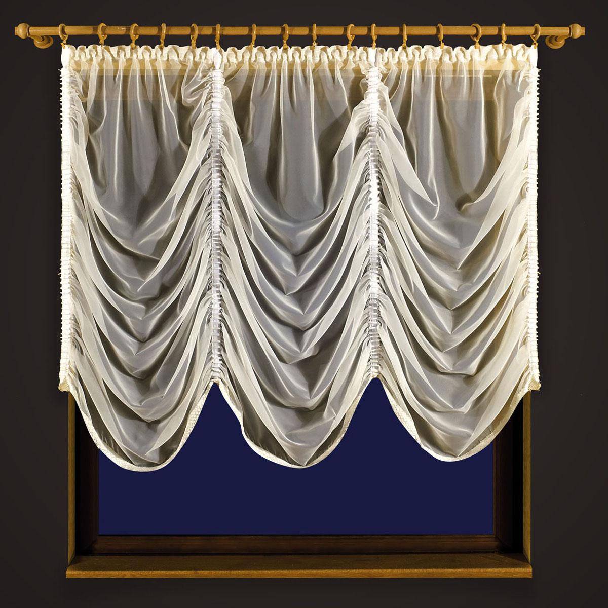 Гардина Zlata Korunka, цвет: кремовый, ширина 250 см, высота 250 см55608 кремовыйГардина из вуали выполнена по типу французской шторы.Вдоль полотна прошиты четыре туннеля,по которым собирается гардина до нужных размеров хозяйки .Размер несобранного полотна 250*250 Размеры: ширина 250* высота 250